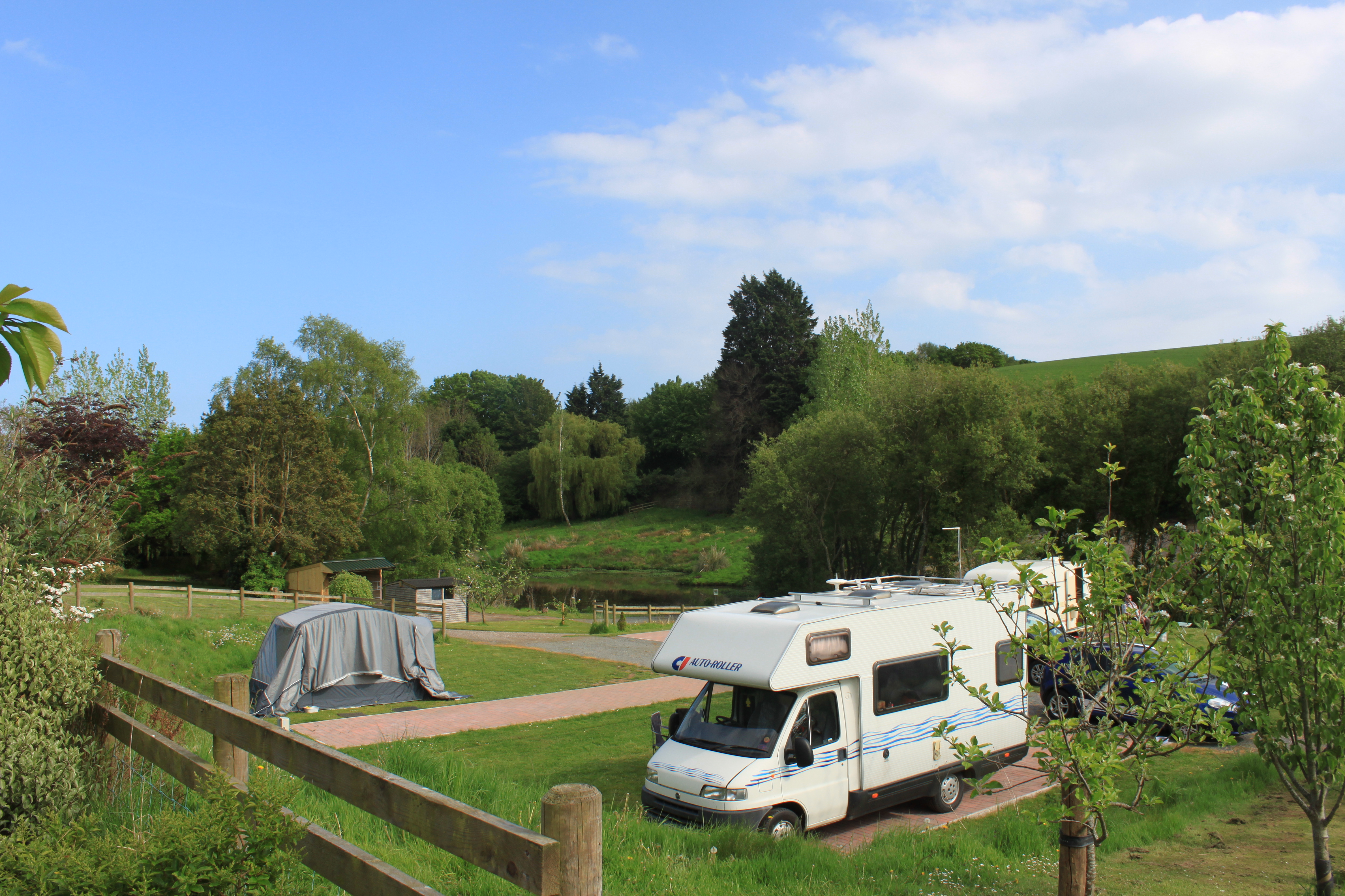 hardstanding pitches hard standing motor home caravan motorhome pitch starcross kenton powderham ferry cycle path