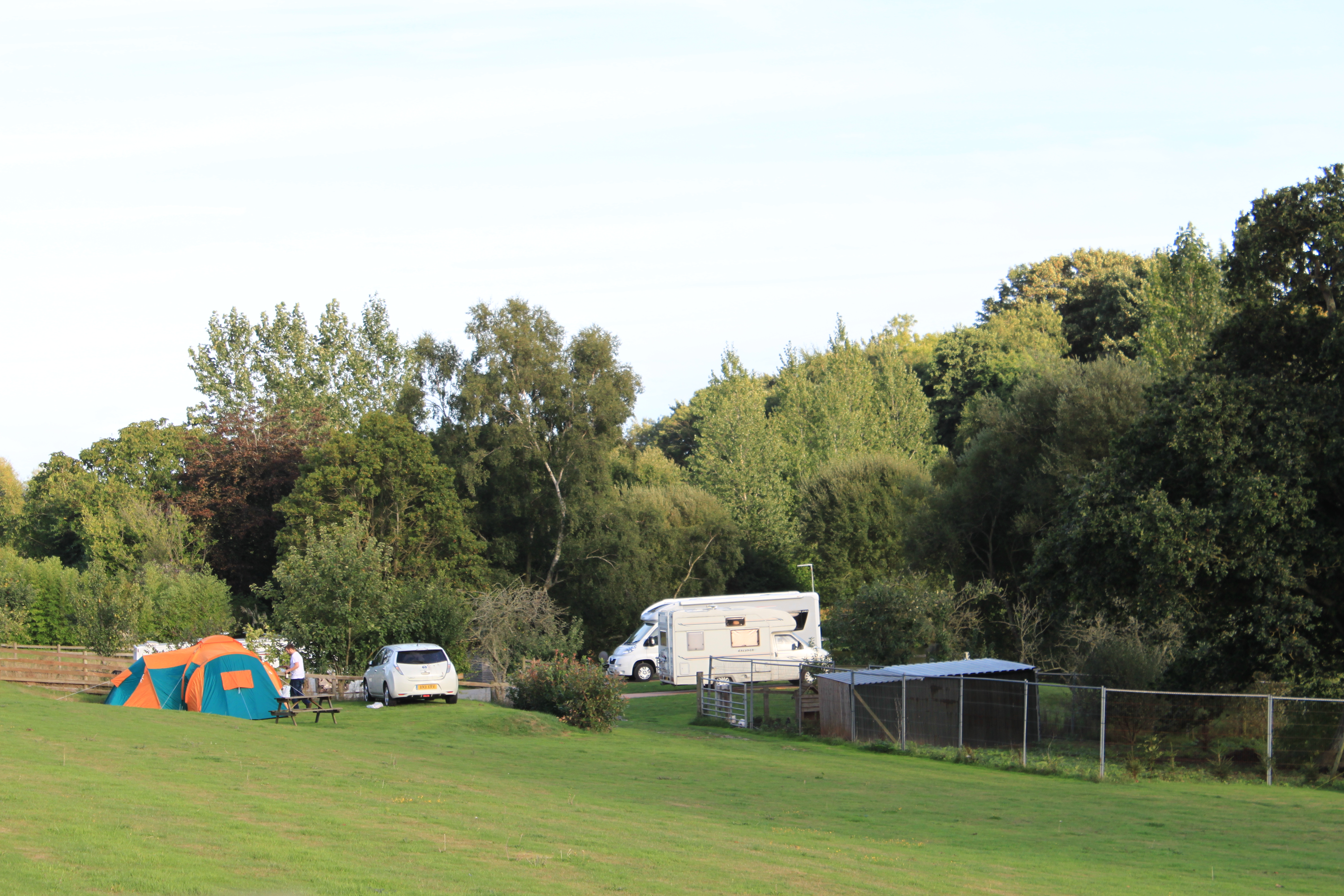 camping tents tent pitches hunters lodge starcross dawlish south devon